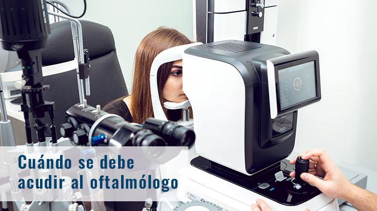 cuando acudir al oftalmologo