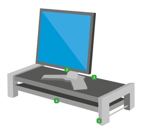 soporte monitor ajustable